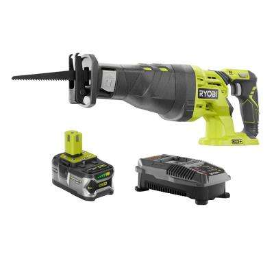 18-Volt ONE+ Lithium-Ion Cordless Reciprocating Saw Kit with (1) 4.0Ah Batttery and Charger