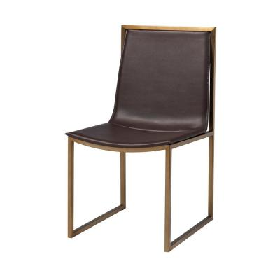 Midas Gold and Brown Dining Chair (Set of 2)