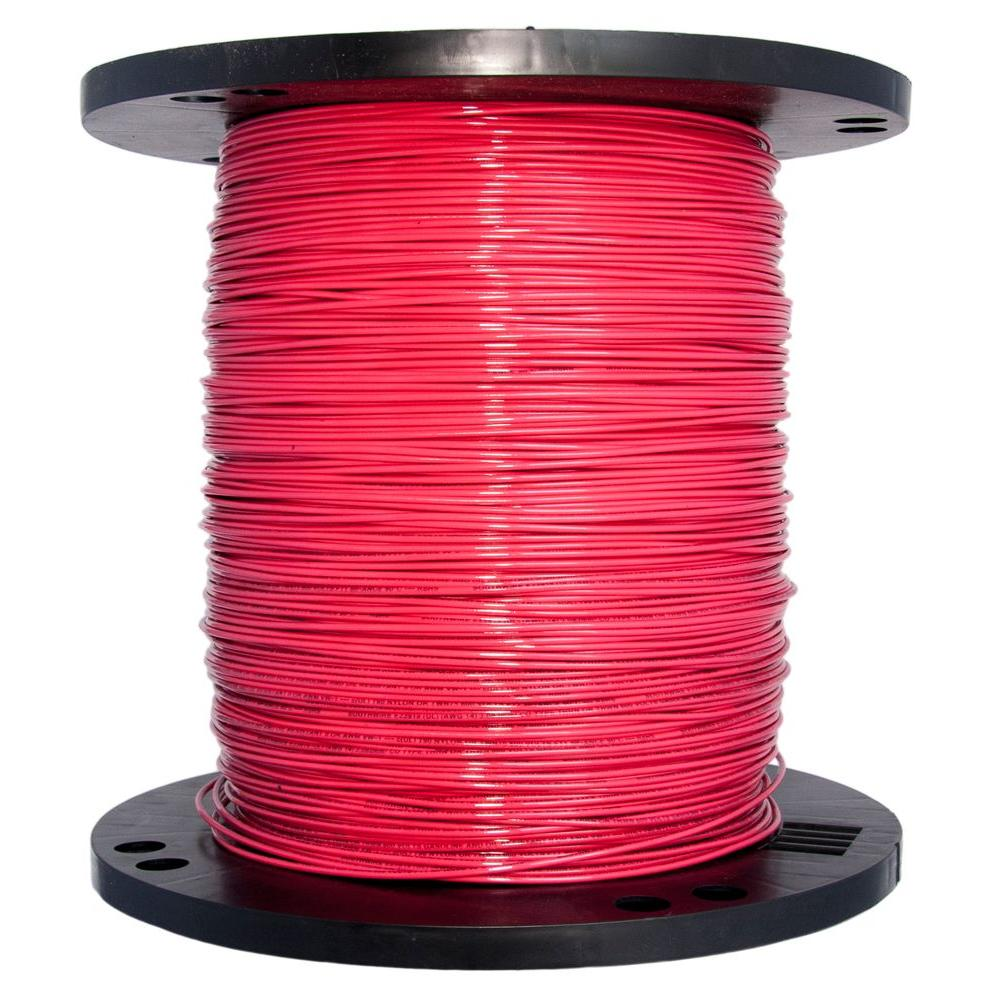 Southwire 2500 ft. 14 Red Stranded CU THHN Wire-22957506 - The Home ...