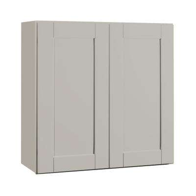 Shaker Assembled 30x30x12 in. Wall Kitchen Cabinet in Dove Gray