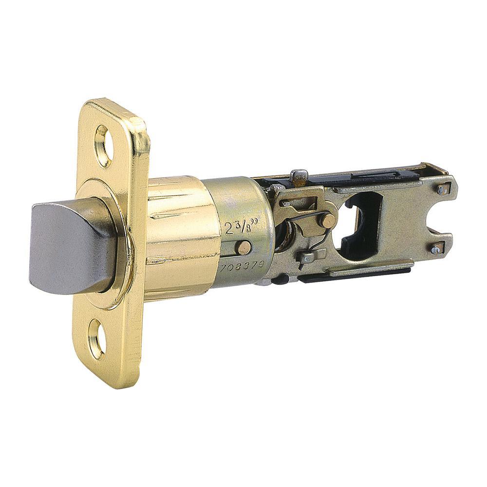Pro 6-Way Universal Polished Brass Adjustable Lock Plain Latch