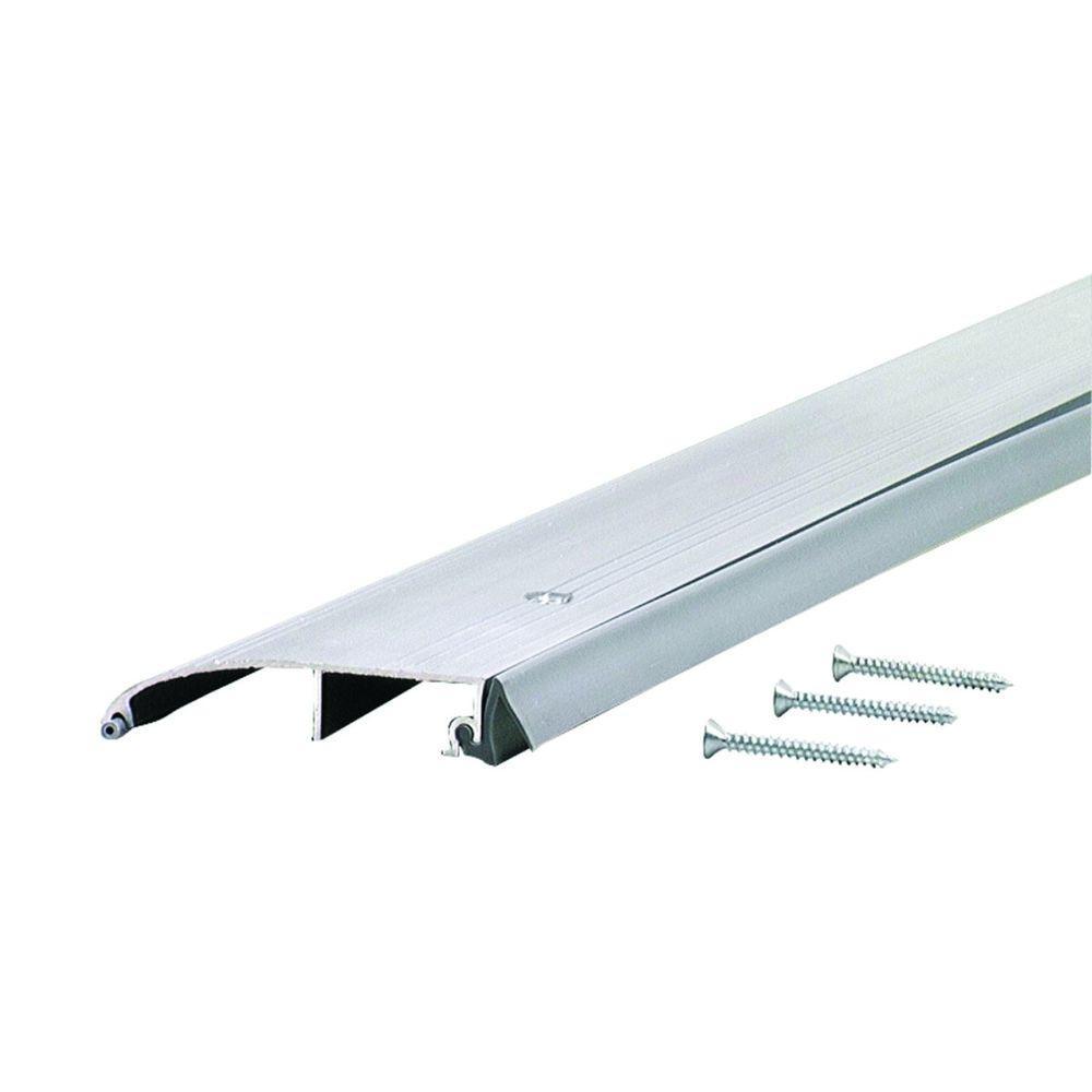 Deluxe 3-1/2 in. x 64 in. Aluminum Low Bumper Threshold