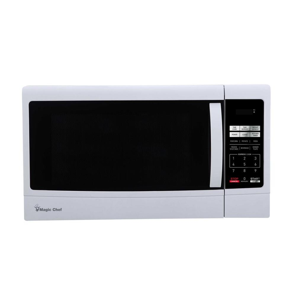 Magic Chef 1 6 Cu Ft Countertop Microwave In White