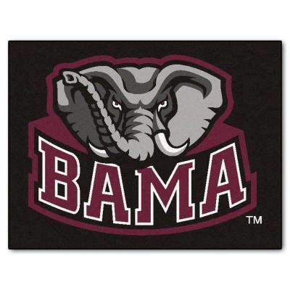 NCAA University of Alabama Black 3 ft. x 4 ft. Rectangle Indoor All-Star Area Rug