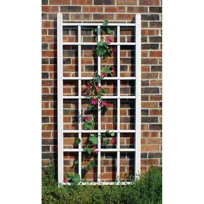 66 in. x 28 in. White Vinyl PVC Cottage Trellis