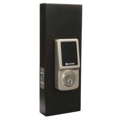 Single Cylinder Satin Nickel Electronic Touchscreen Deadbolt