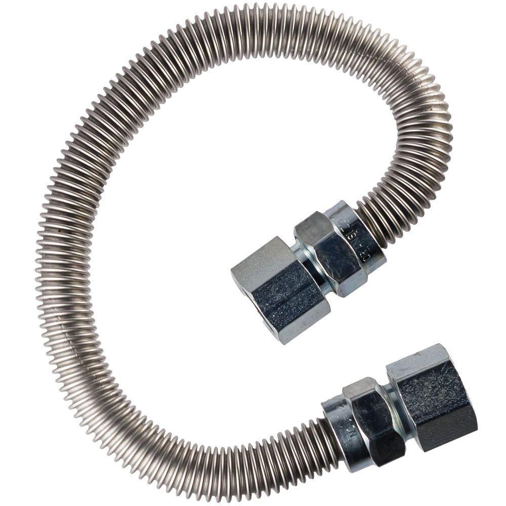 3/4 in. FIP x 3/4 in. FIP x 48 in. Range Connector 5/8 in O.D.