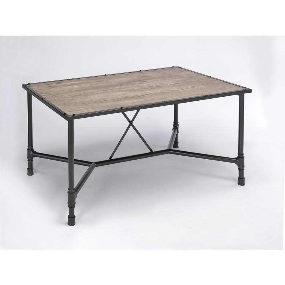 Caitlin Rustic Oak Water Resistant Dining Table