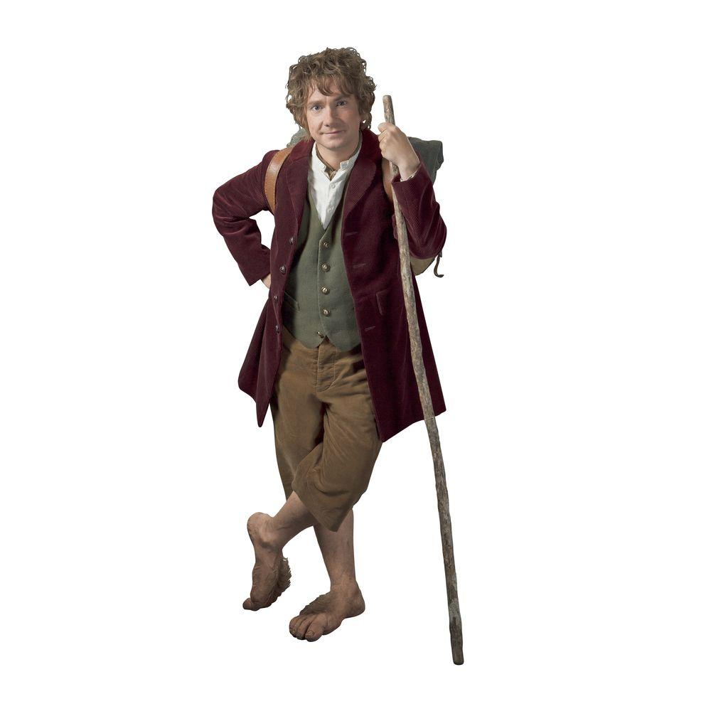 null 18 in. x 40 in. The Hobbit - Bilbo Baggins Giant 16-Piece Peel and Stick Wall Decals