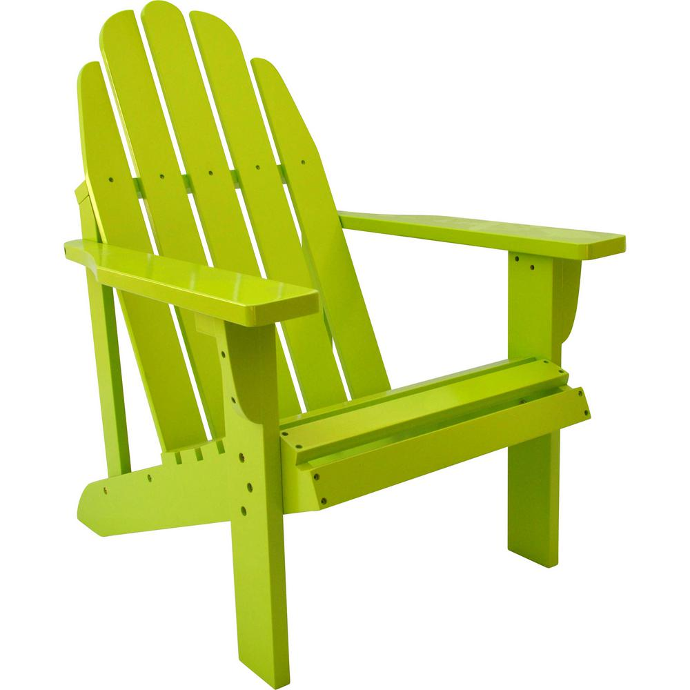 Catalina Cedar Wood Adirondack Chair - Lime Green