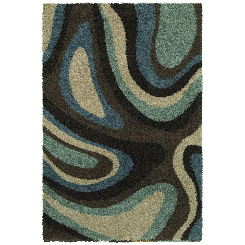 Mohawk Home Ink Swirl Cocoa 10 ft. x 13 ft. Area Rug