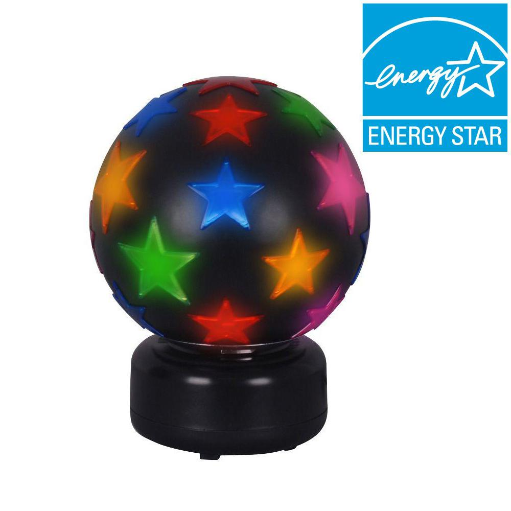 Black Disco Ball Lamp With Multi Color Stars Ttl 20 Compliant Fixture