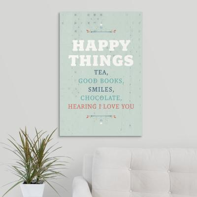 """Happy Things"" by American Flat Canvas Wall Art"