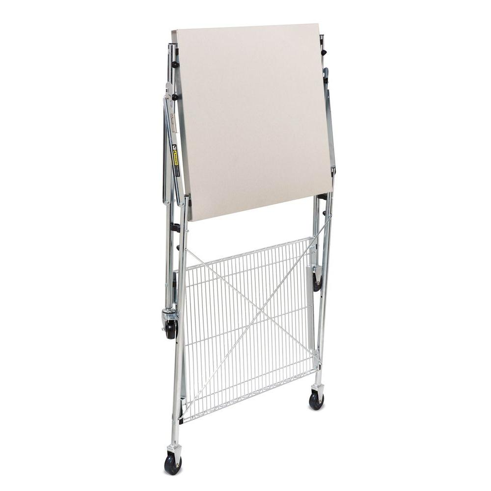 HoneyCanDo Stainless Steel Urban Folding TableTBL The - Stainless steel work table with wheels