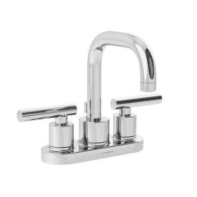 Dia 4 in. Centerset 2-Handle Mid-Arc Bathroom Faucet in Chrome
