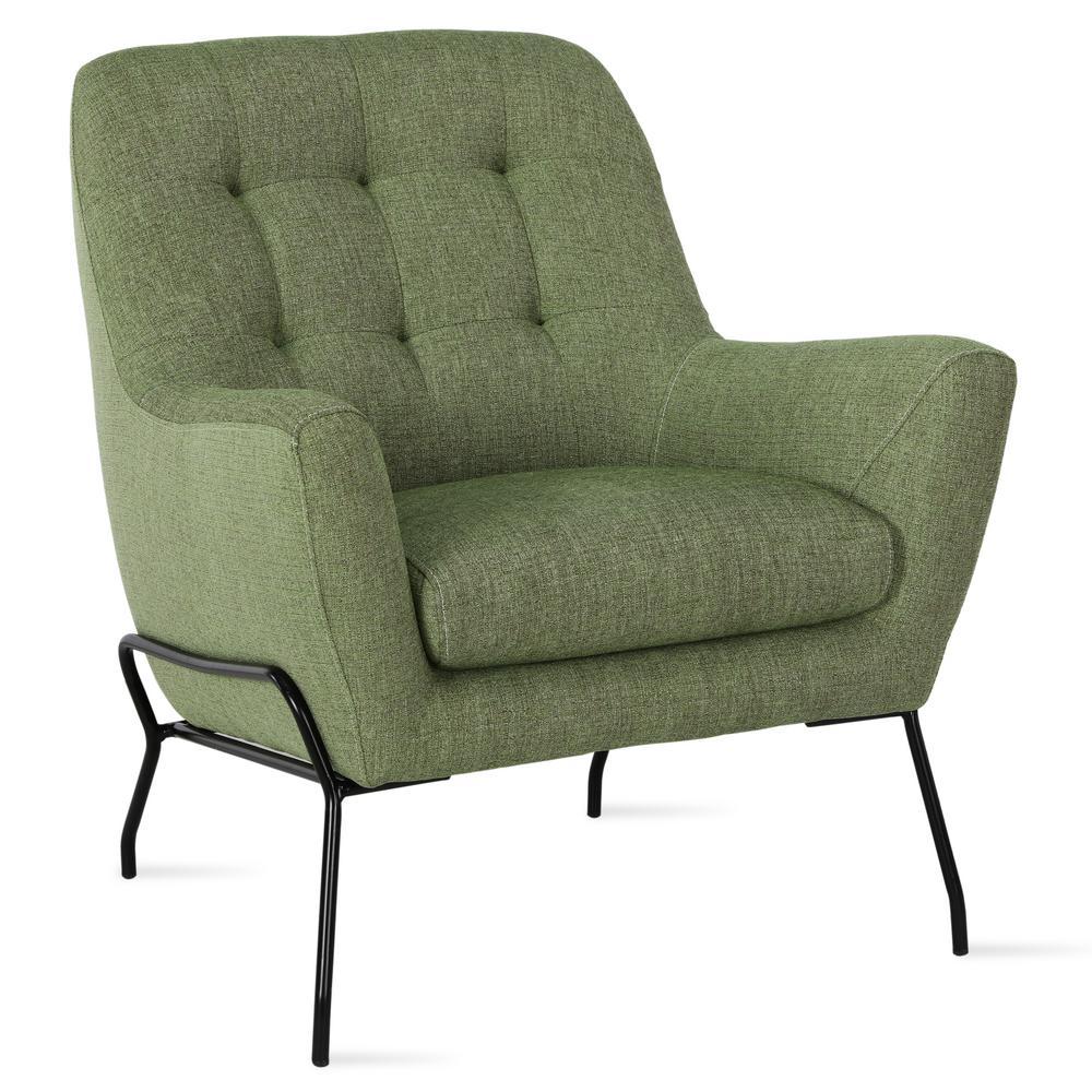 35.5 in. Nashville Green Modern Accent Chair