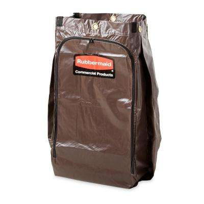 Vinyl Replacement Bag with Zippered Side Opening for Housekeeping Carts