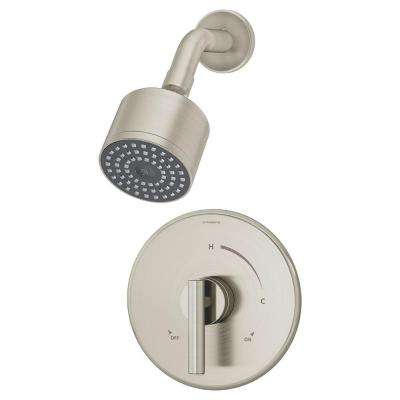Dia Single-Handle Shower Valve Trim Kit in Satin Nickel (Valve Not Included)