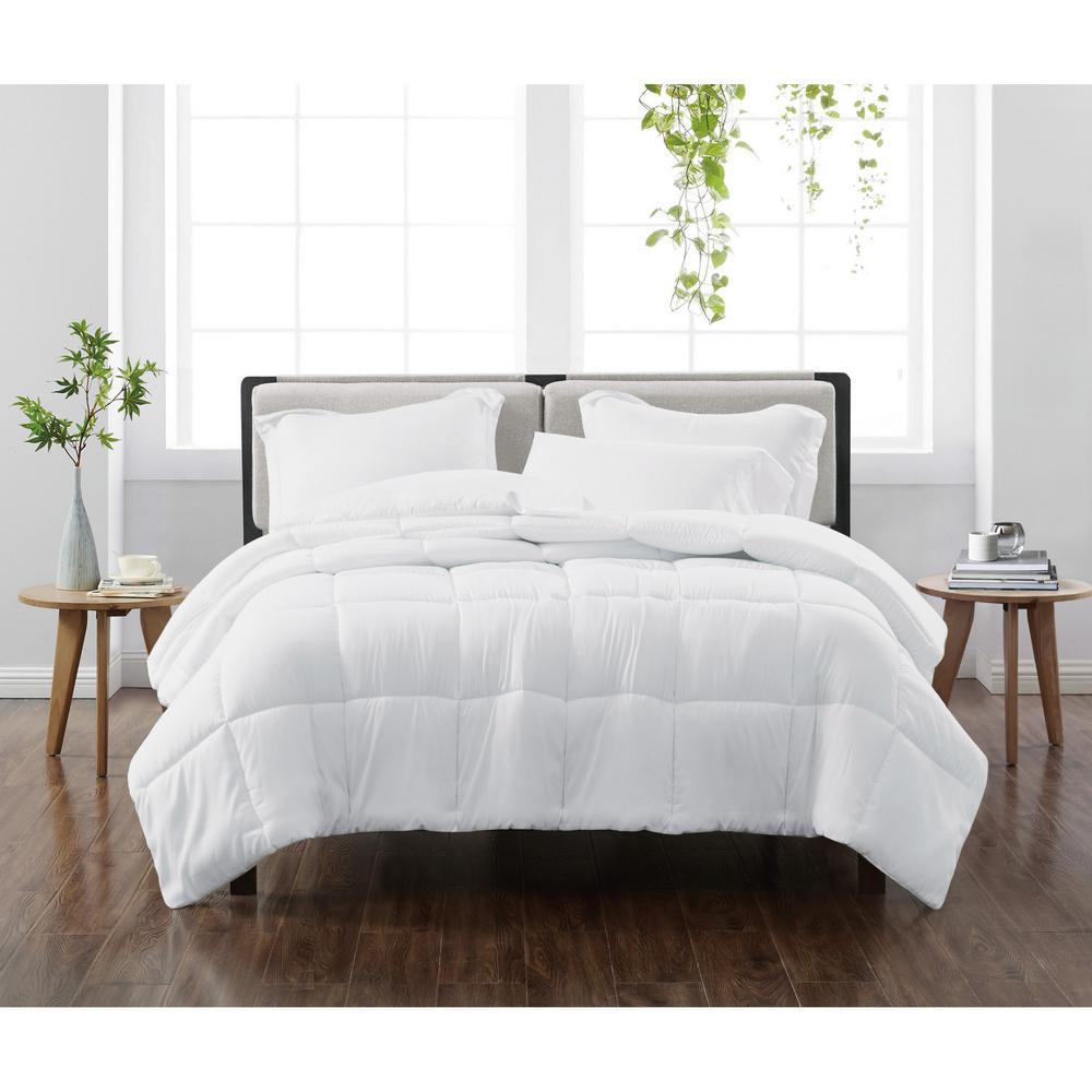Solid White Full/Queen 3-Piece Comforter Set