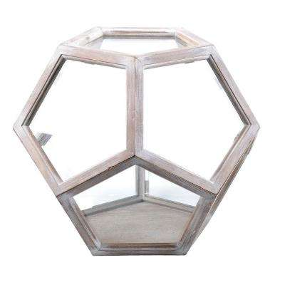 Neoponset 8 in. x 7 in. Glass and Wood Globe Terrarium