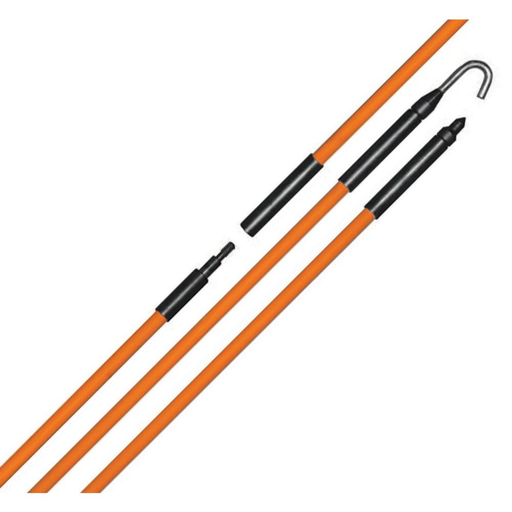 Fiberglass Electrical Poles : Eagle tool us in ft fiberglass fish rod kit
