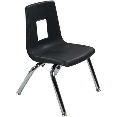 Black Student Stack School Chair