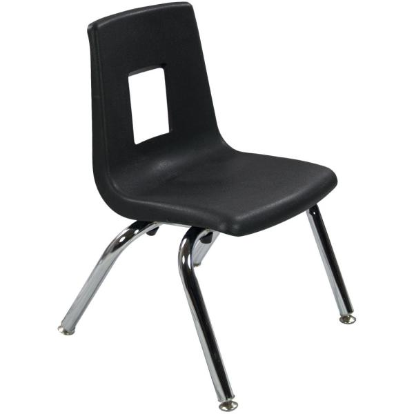 Advantage Black Student Stack School Chair ADV-SSC-12BLK