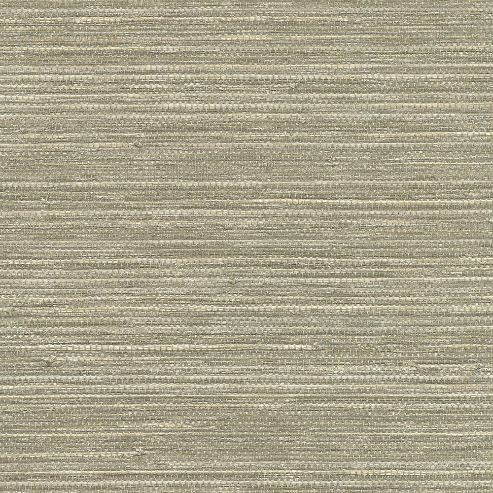 72 sq. ft. Tagum Grey Grass Cloth Wallpaper