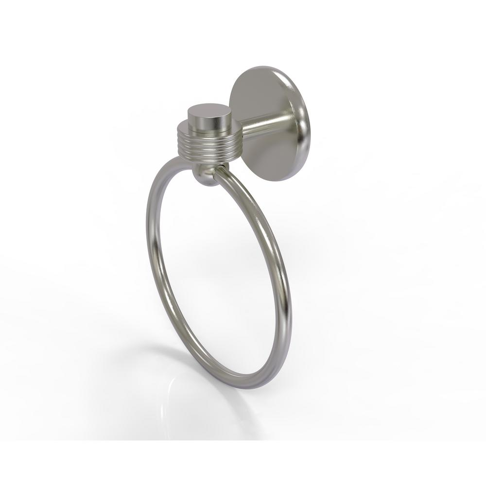 Satellite Orbit One Collection Towel Ring with Groovy Accent in Satin