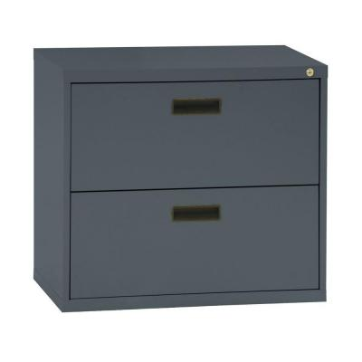 400 Series 26.6 in. H x 30 in. W x 18 in. D 2-Drawer Charcoal Lateral File Cabinet
