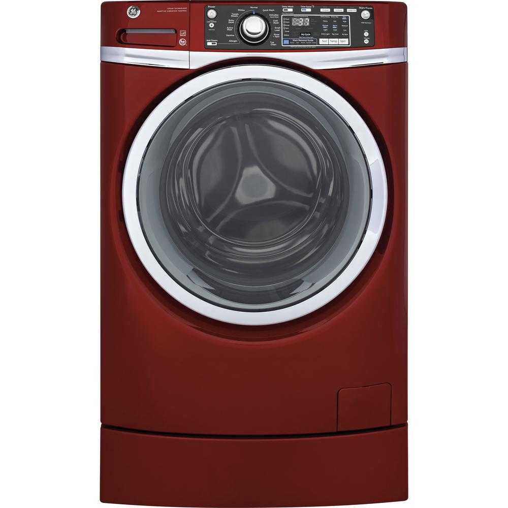 4.9 cu. ft. High-Efficiency Stackable Ruby Red Front Loading Washing Machine