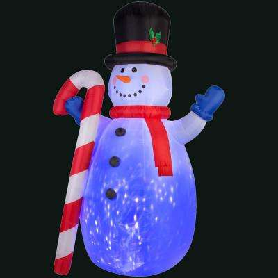 72.05 in. L x 54.72 in. W x 120.08 in. H Inflatable Projection Kaleidoscope Snowman