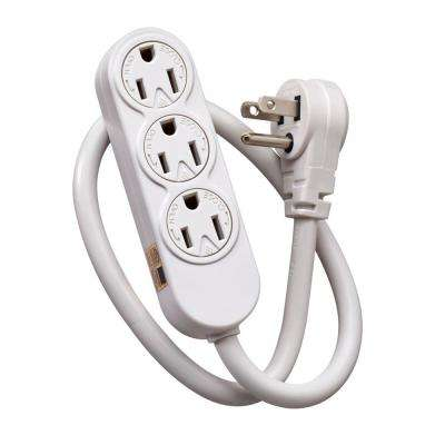 3-Outlet Power Strip For Use Inside Structured Media Center