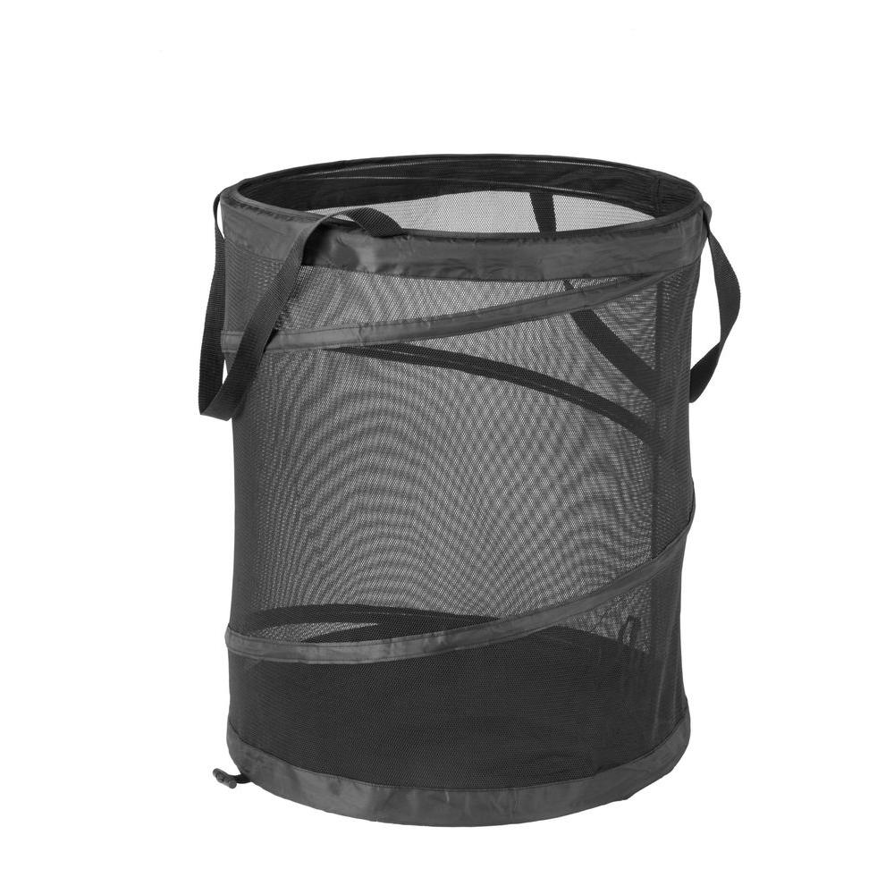 Honey-Can-Do Large Black Mesh Pop Open Hamper