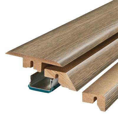 Southport Oak 3/4 in. Thick x 2-1/8 in. Wide x 78-3/4 in. Length Laminate 4-in-1 Molding
