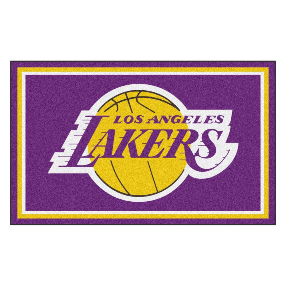 NBA - Los Angeles Lakers Purple 4 ft. x 6 ft. Area Rug