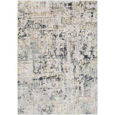 Fortunata Gray 6 ft. 7 in. x 9 ft. 6 in. Abstract Area Rug