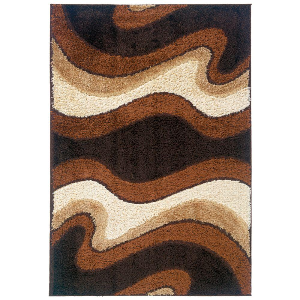 United Weavers Shimmer Coffee 6 ft. 7 in. x 9 ft. 10 in. Area Rug