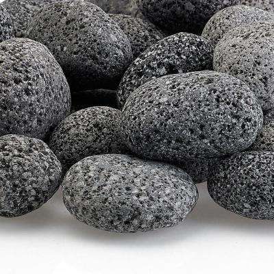 Small Lava Stone (Tumbled) Gray / Black 1/2 in. - 1 in. 10 lbs. Bag