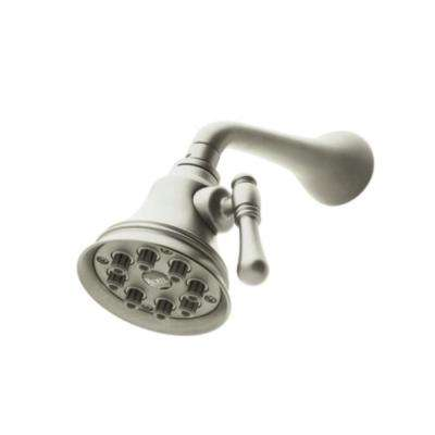Mantova 1-Spray 4 in. Fixed Showerhead in Satin Nickel