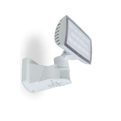 180-Degree White Motion Activated Outdoor Integrated LED Flood Light