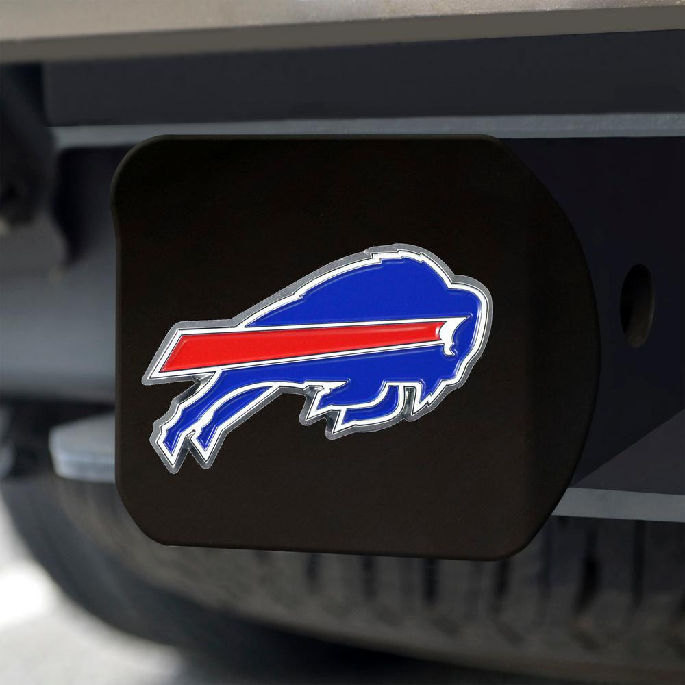 2 Square Type III Hitch Cover FANMATS NFL Buffalo Bills Metal Hitch Cover Black