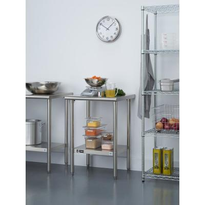 Stainless Steel Kitchen Utility Table with Adjustable Bottom Shelf