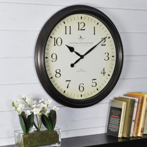 FirsTime 20 inch Round Avery Whisper Wall Clock by FirsTime