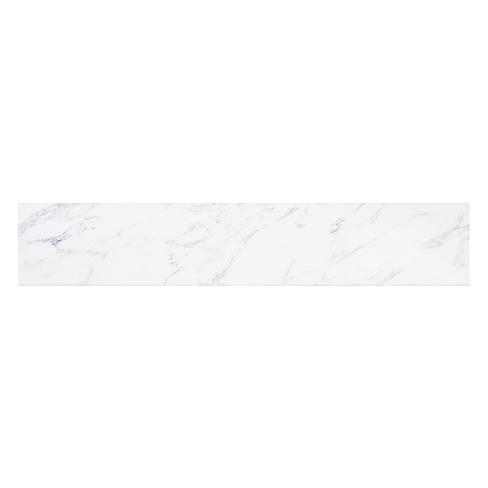 Ariel Ariel 21 in. Marble Sidesplash in Carrara, White