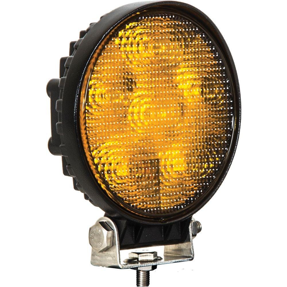 Buyers Products Company 4 6 Inch Round Led Amber Flood Light
