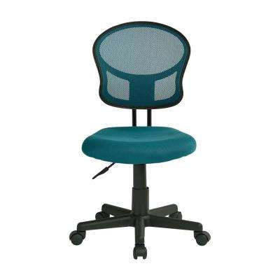Mesh Blue Fabric Task Chair