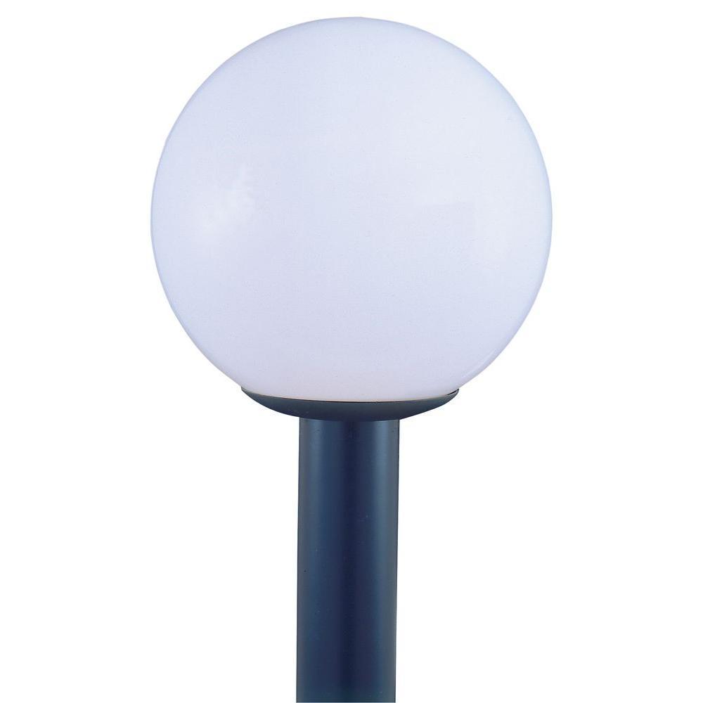 Thomas Lighting 1-Light Outdoor Black Post Lantern-DISCONTINUED