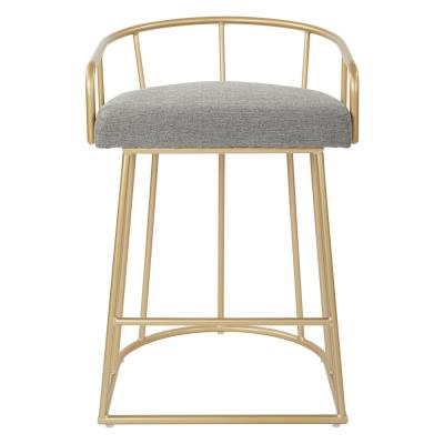 Luna 26 in. Ash with Gold Base Counter Stool