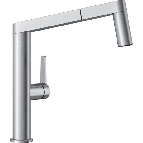 Panera Single-Handle Pull-Out Sprayer Kitchen Faucet in Stainless
